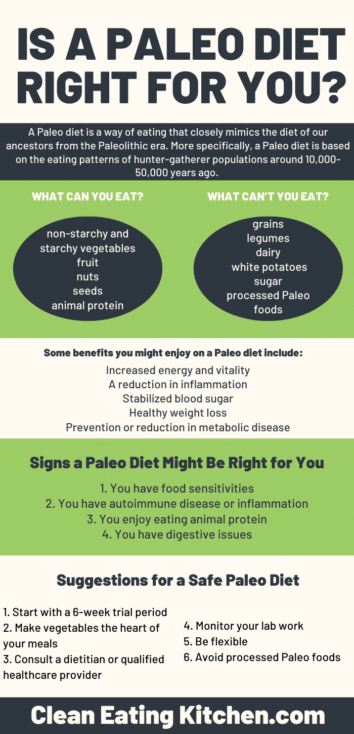 Is a Paleo Diet Right For You infographic