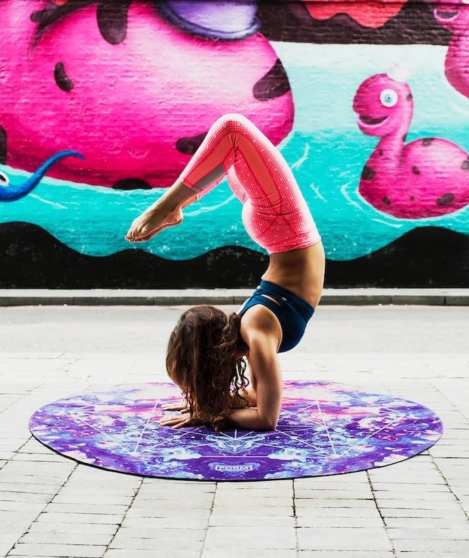woman doing extreme yoga