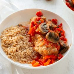 instant pot chicken cacciatore with tomatoes