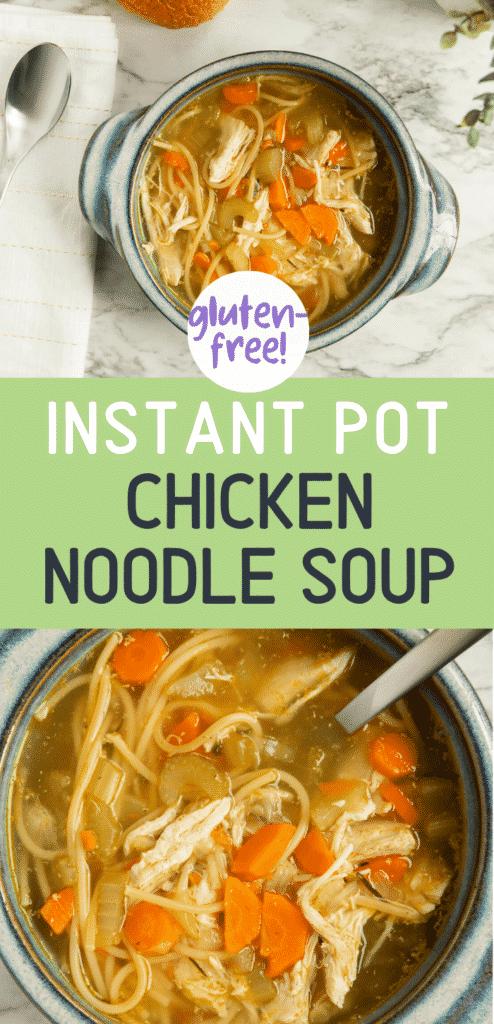 instant pot chicken soup that is gluten-free