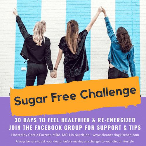 sugar free challenge invite