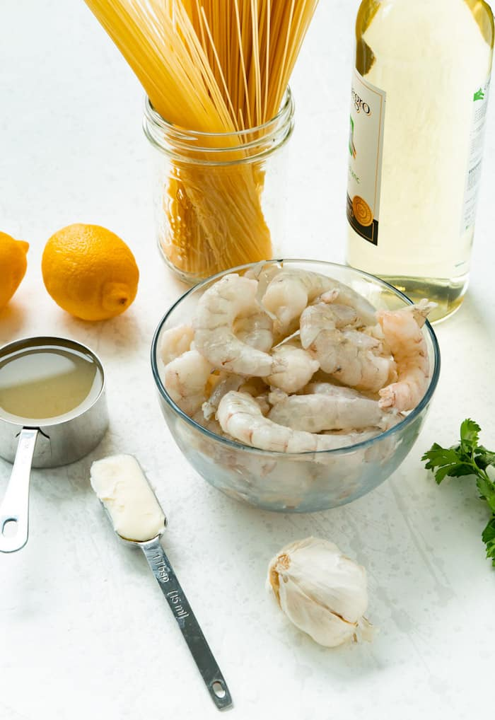 Fresh shrimp, ghee and garlic combine with gluten-free pasta for a delicious paleo-friendly meal.