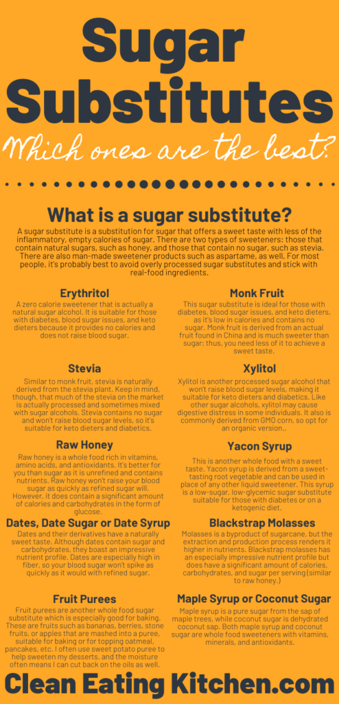 what are the best sugar substitutes