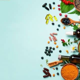 supplements and powders on a table