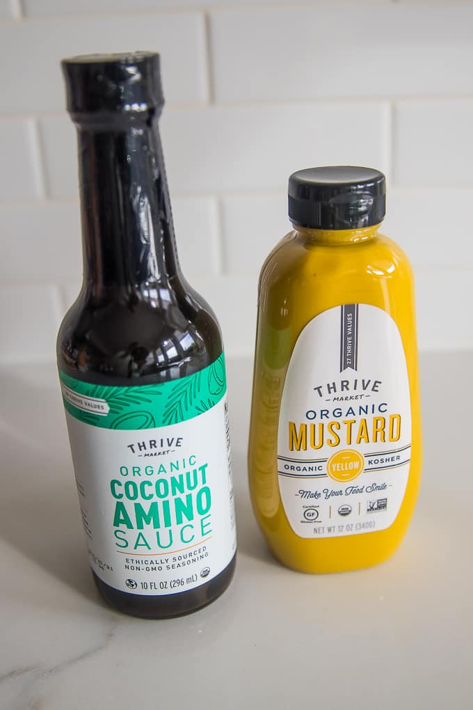 thrive market coconut aminos and mustard