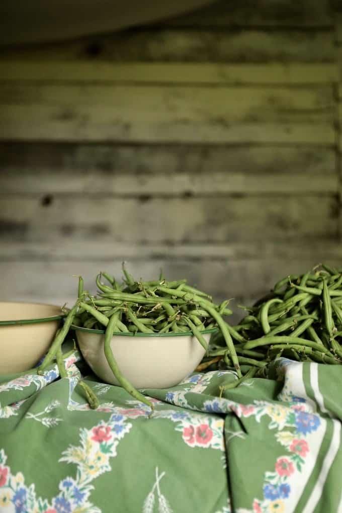 bowls of peas