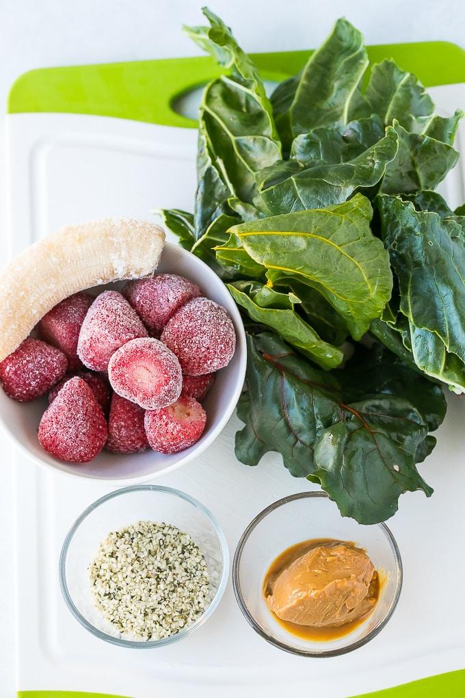 dairy free strawberry green smoothie ingredients