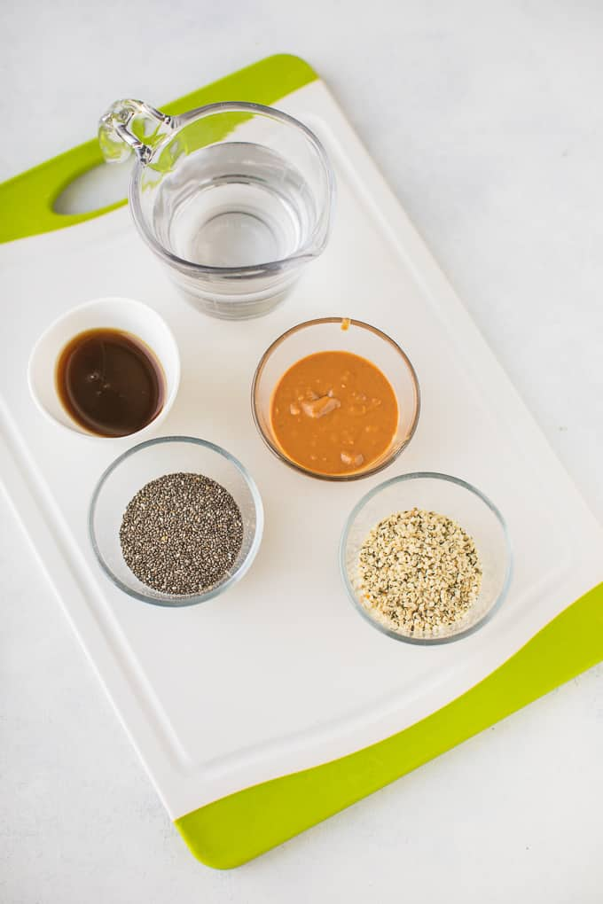 keto peanut butter chia pudding ingredients