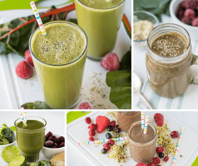 breakfast smoothie recipes collage