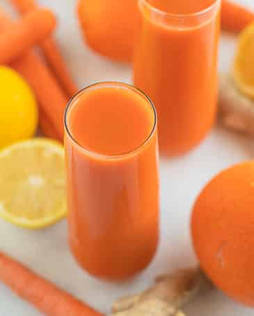 carrot juice with lemon