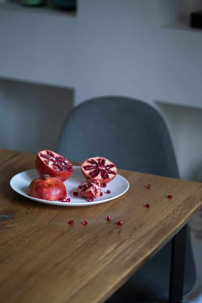 plate of pomegranate
