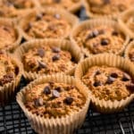 coconut flour muffins on a cooling rack