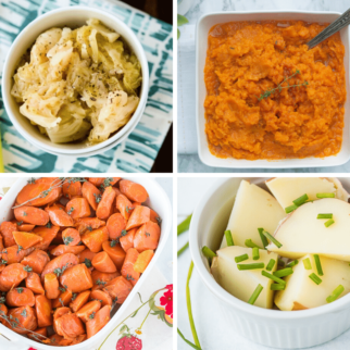 collage of side dishes