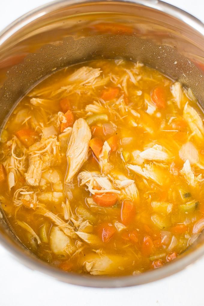 leftover turkey soup instant pot