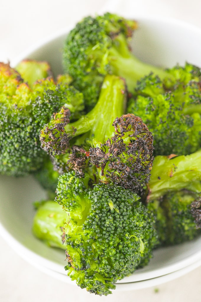 bowl of broccoli ready to be served