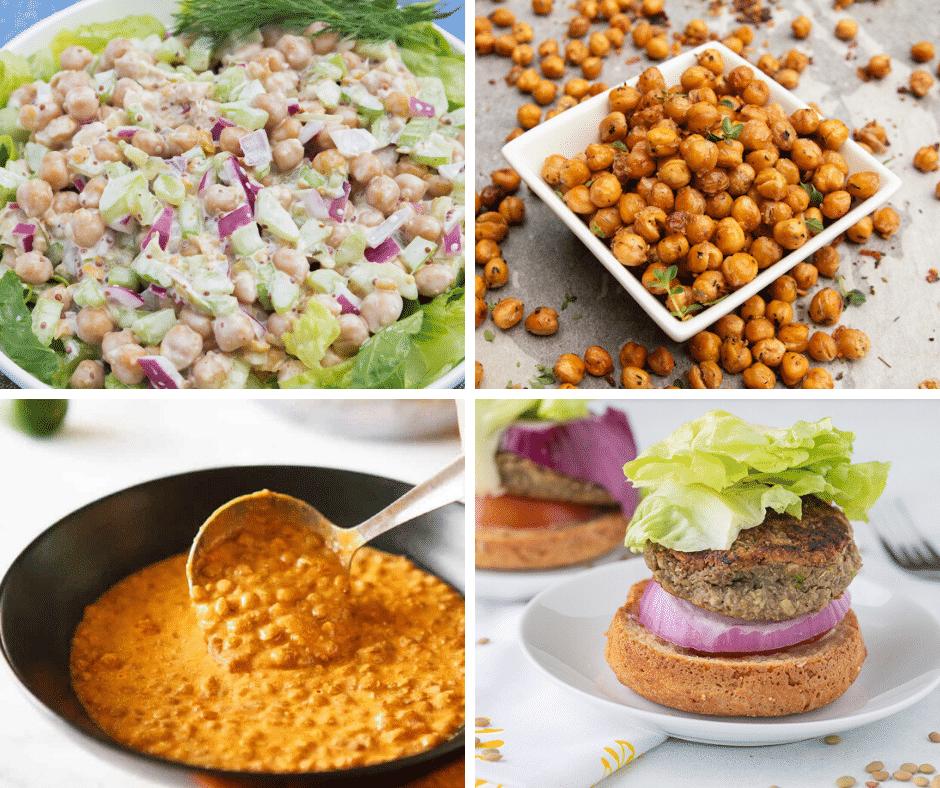 healthy bean recipe collage