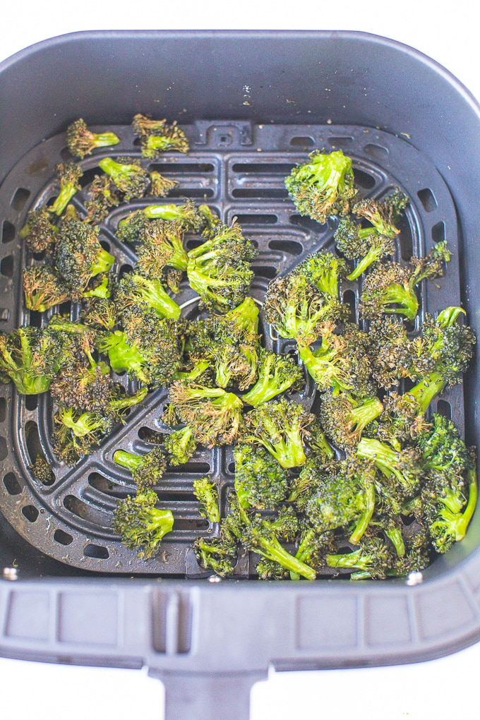 broccoli florets cooked in air fryer