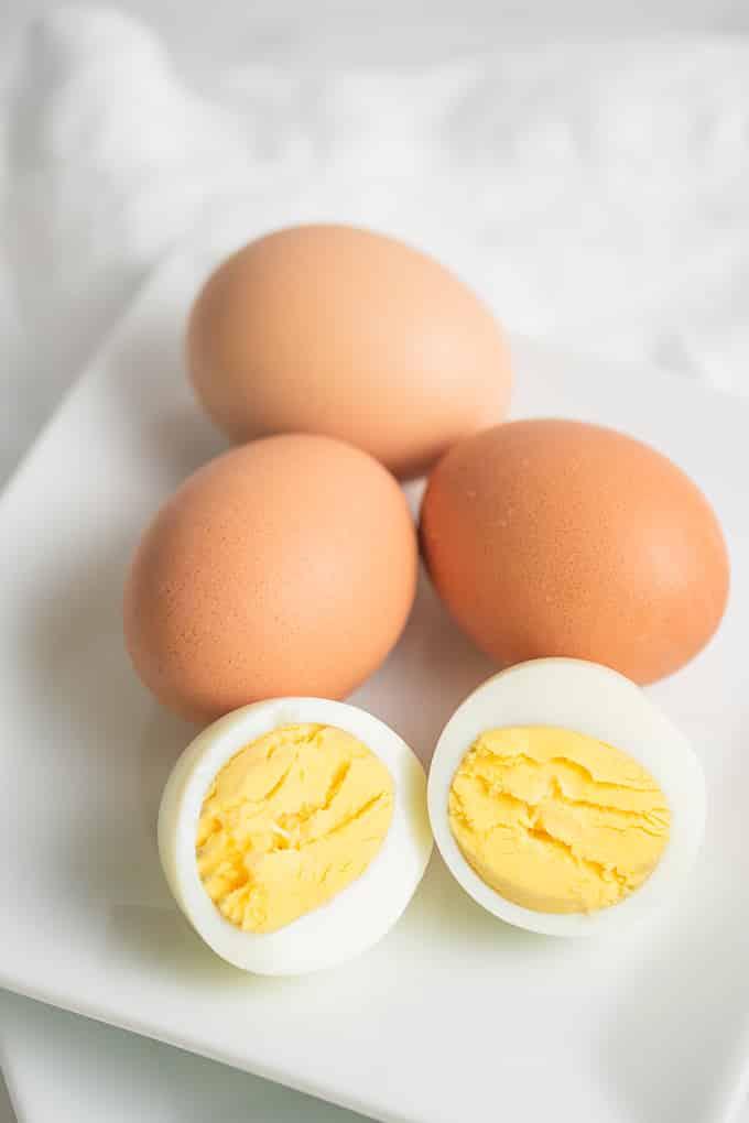hardboiled egg on plate
