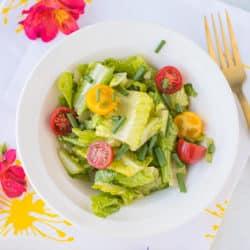 honey mustard salad dressing recipe served on a salad