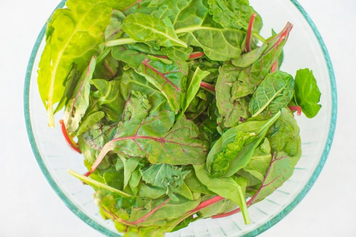 bowl of baby greens