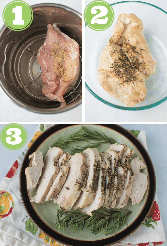 collage of how to cook turkey breast