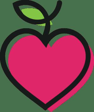 clean eating heart logo