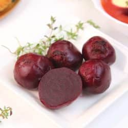 cooked beets on a plate