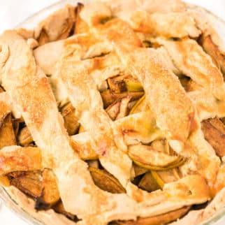 gluten-free apple pie with lattice top