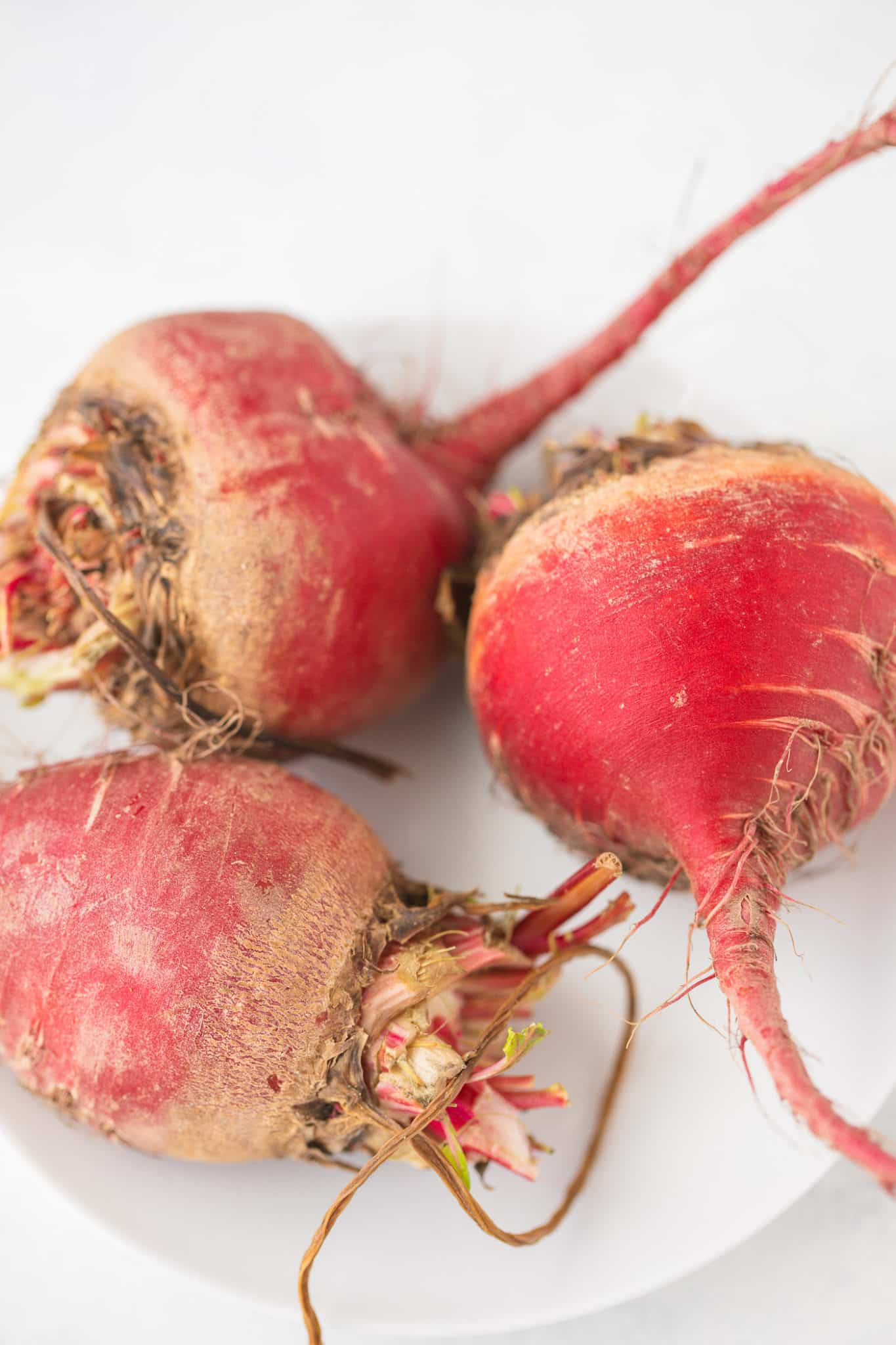 Chiogga beets ready to be cooked