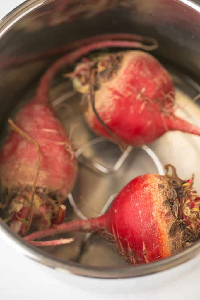 uncooked beets in Instant Pot