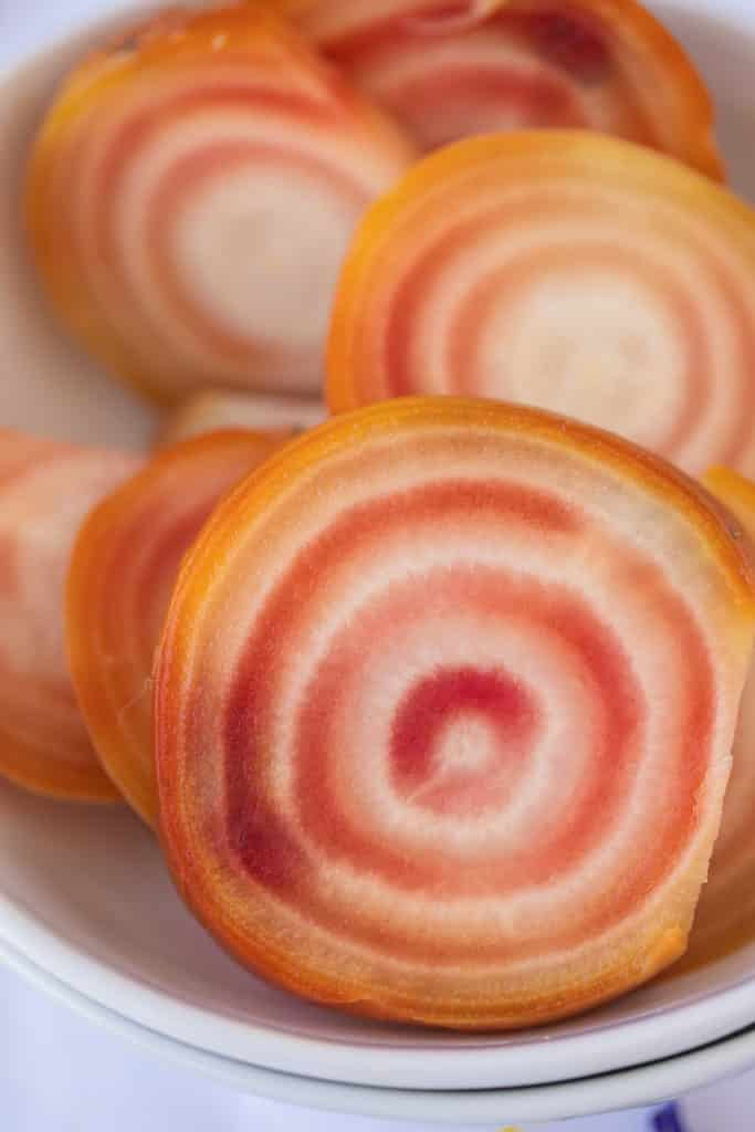 striped candy cane beets