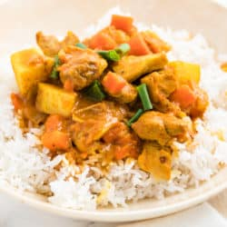instant pot chicken curry bowl