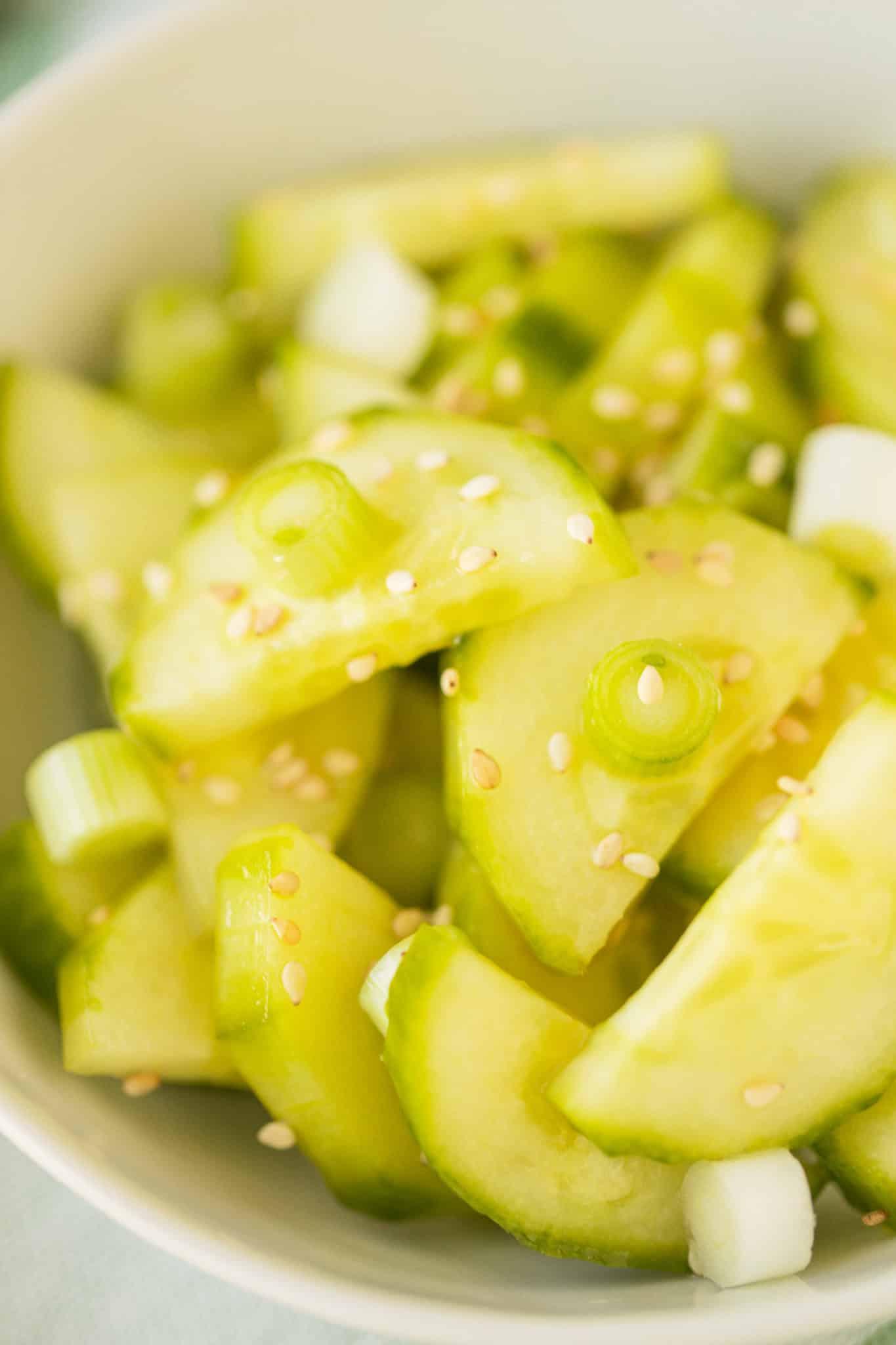 cucumber salad slices