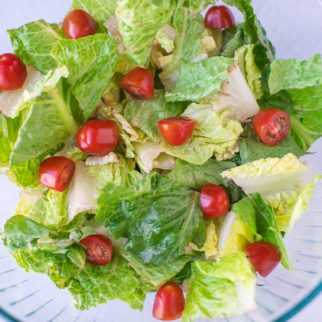 bowl of salad with tomatoes