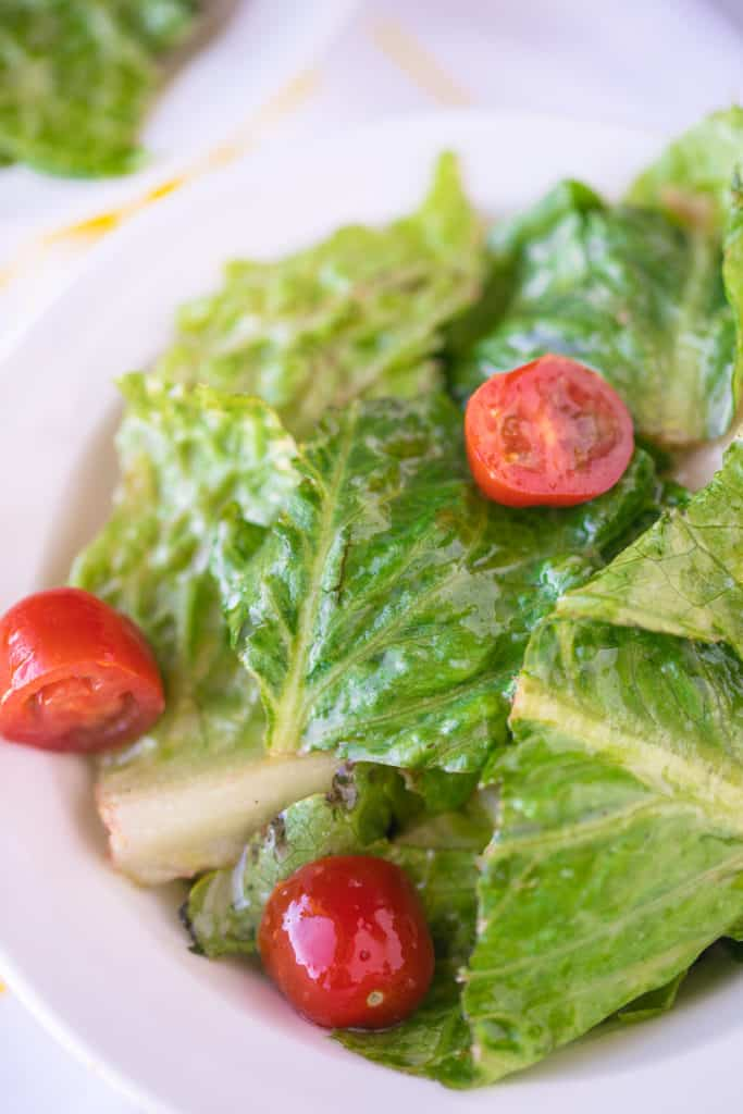 salad with cherry tomatoes on top