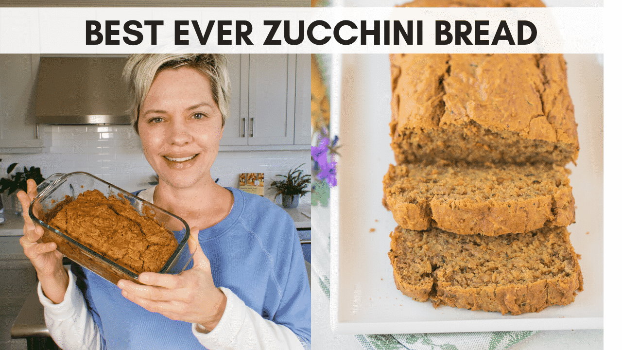 youtube cover image for zucchini bread video