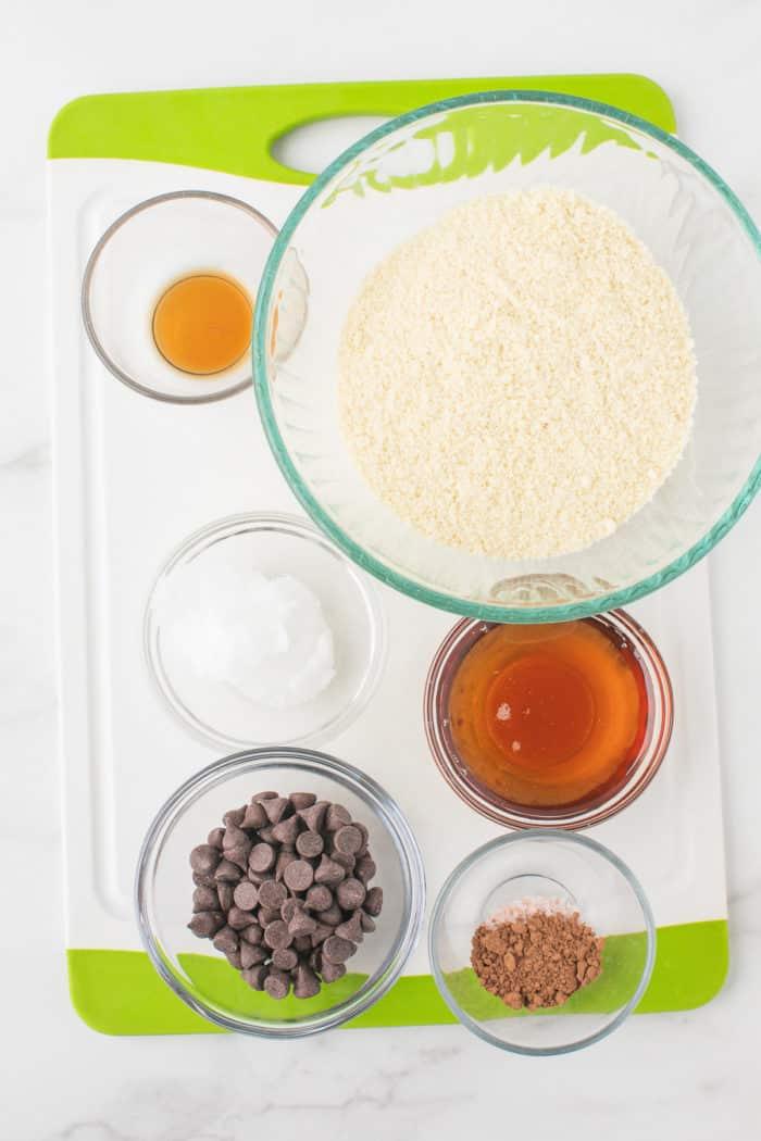 recipe ingredients in bowls