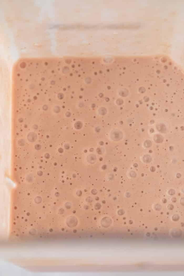 pink smoothie in a blender