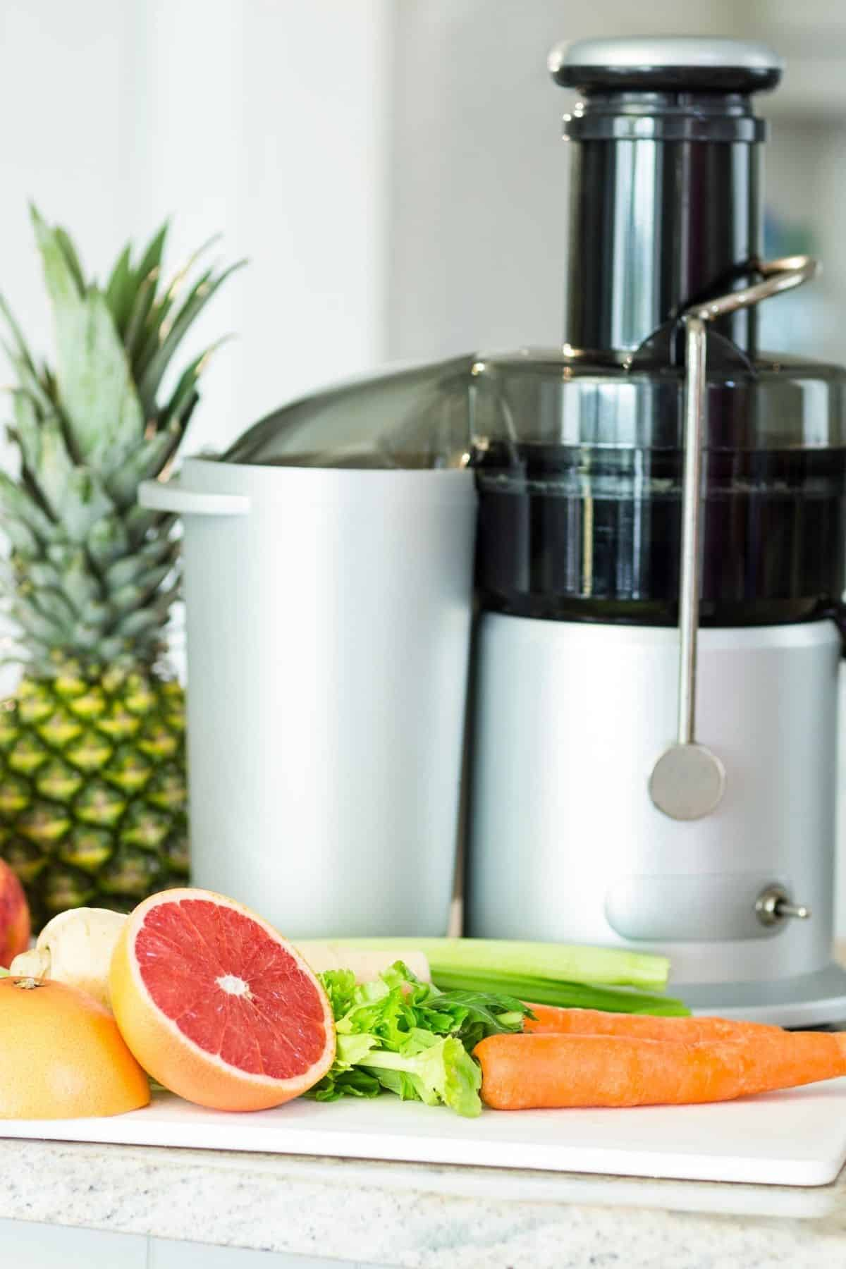 centrifugal juicer on a kitchen countertop