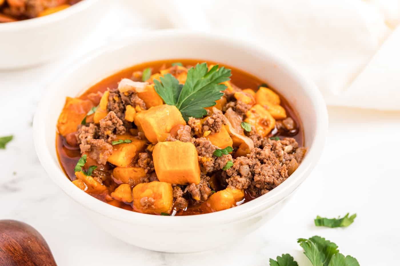 Instant Pot Sweet Potato Ground Beef Chili Clean Eating Kitchen
