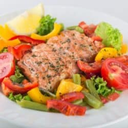 30 minute meal salmon and veggies