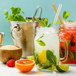 selection of healthy beverage recipes