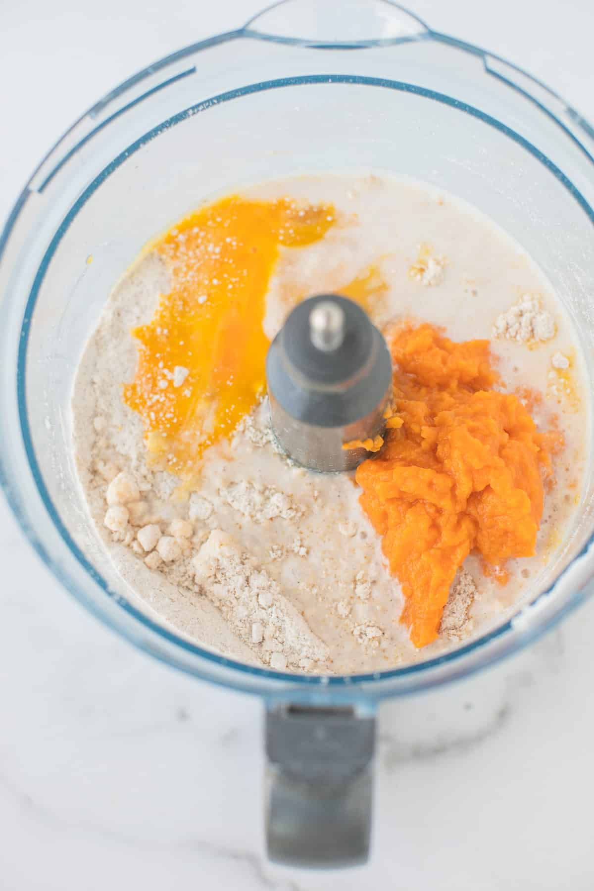 food processor with batter for gluten free scones