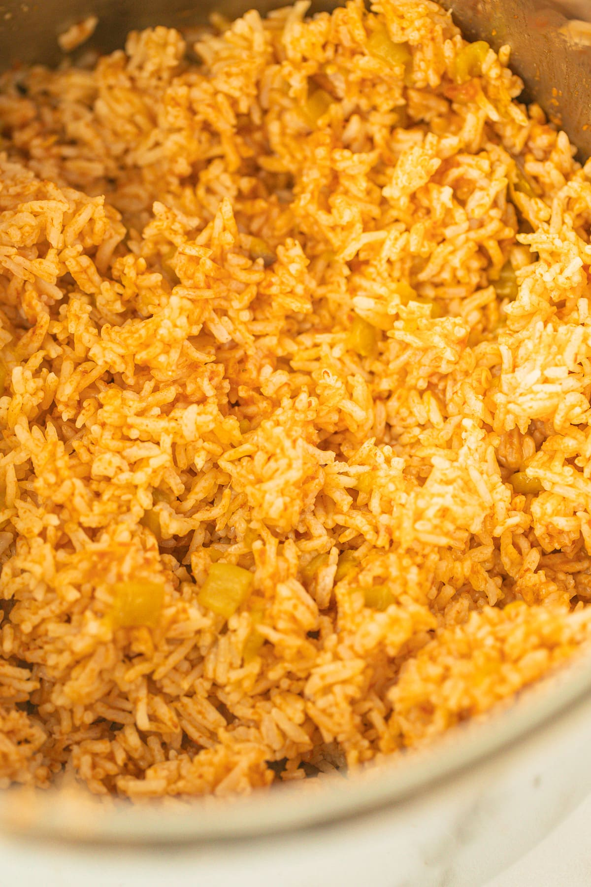 cooked spanish rice in the instant pot
