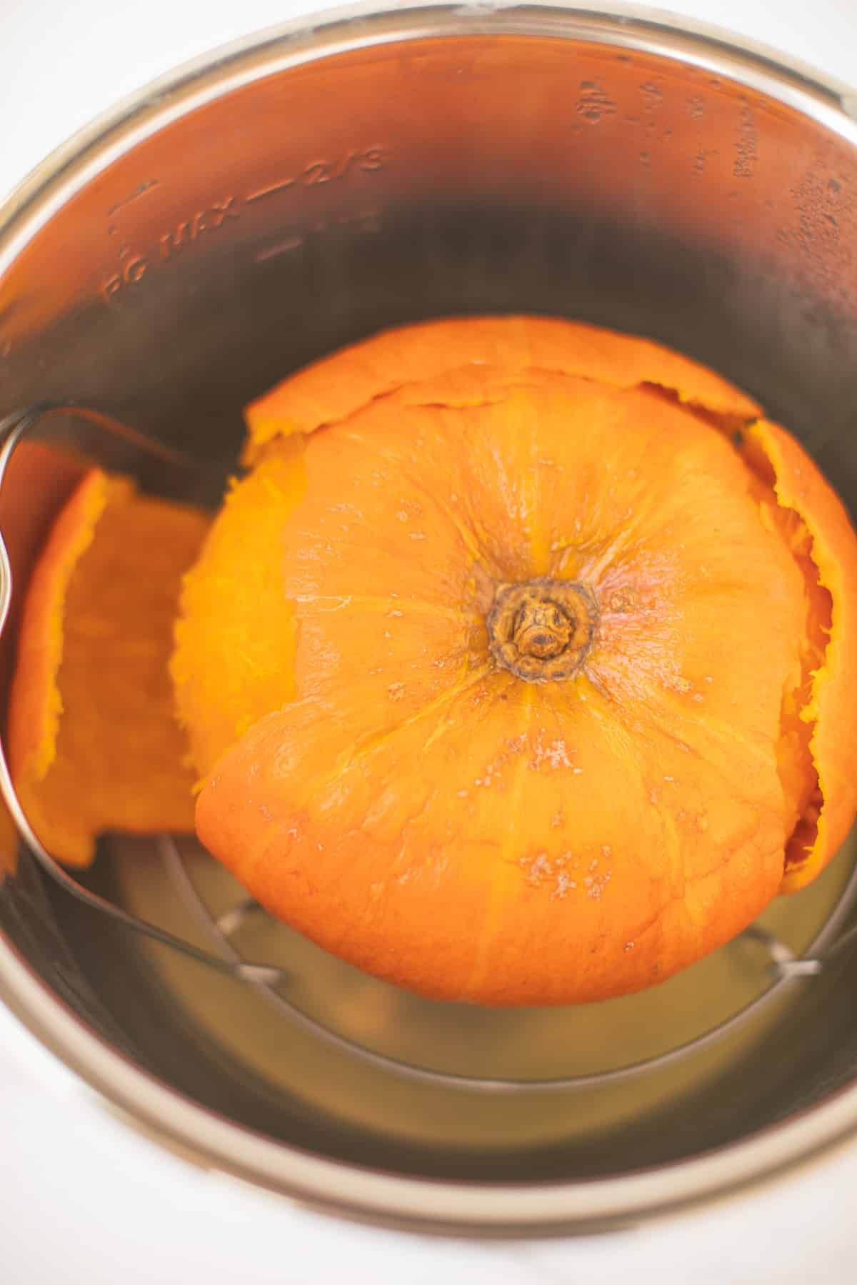 cooked kabocha squash in an instant pot
