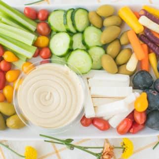 tribe hummus vegetable platter