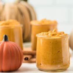 vegan pumpkin pudding on tabletop