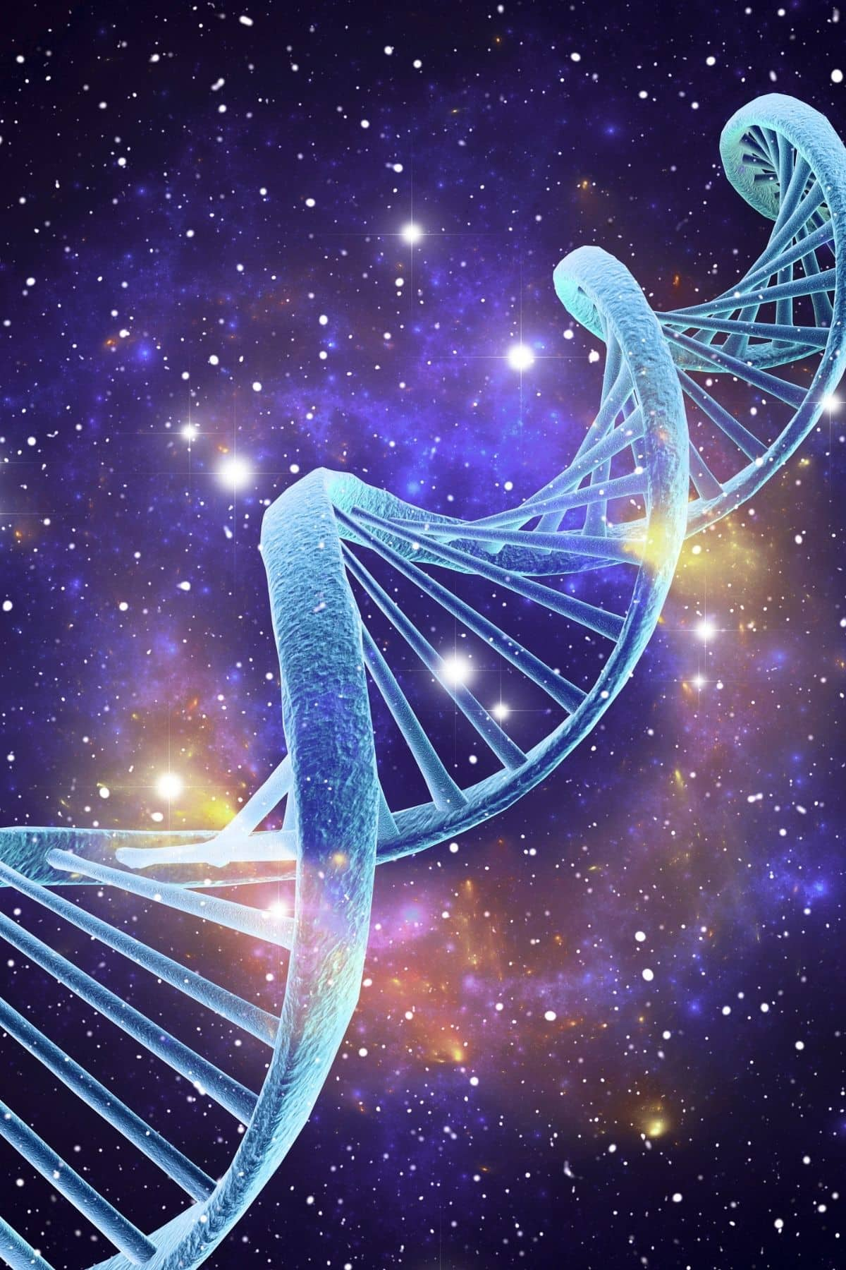 dna helix in a galaxy