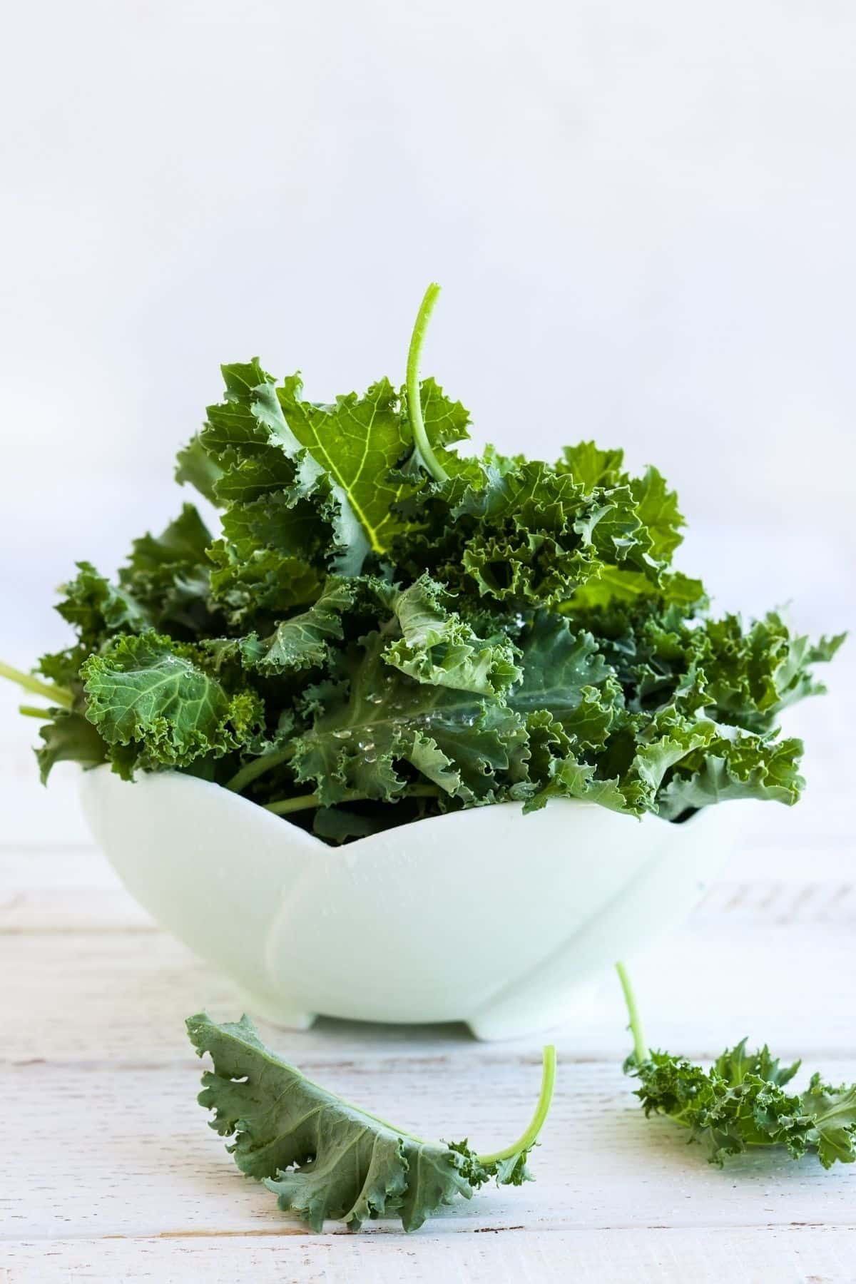 bowl of curly kale