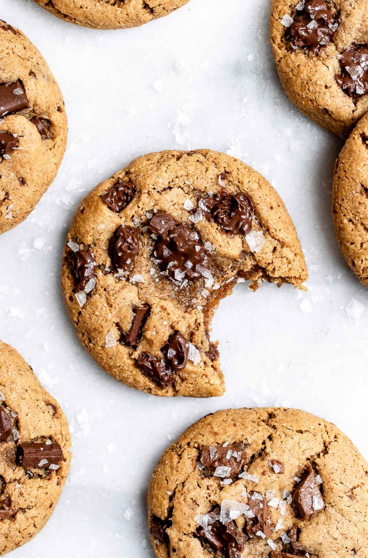 chocolate chunk tahini cookies